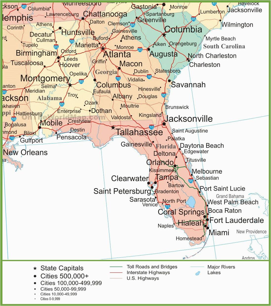 Road Map Of Alabama and Florida Map Of Alabama Georgia and Florida