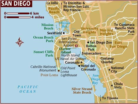 San Diego California On Map Map Of San Diego