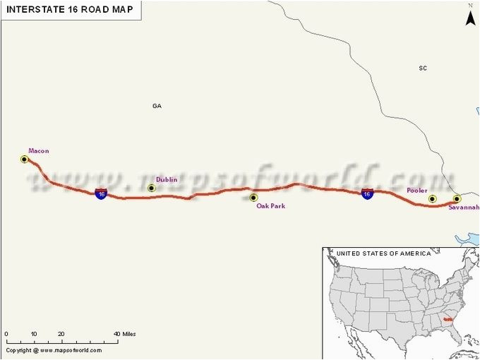 Savannah Georgia On Map Interstate Map Georgia Usa Travel Destinations Pinterest