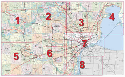 Troy Michigan Map Mdot Detroit Maps