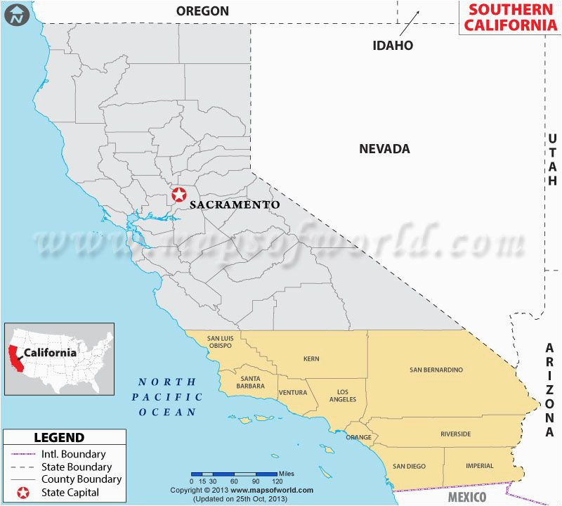 Wall Map Of California Map Of southern California Showing the Counties Maps Mostly Old