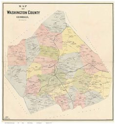 Washington Georgia Map 21 Best Georgia Old Maps Images State Map Antique Maps County Map