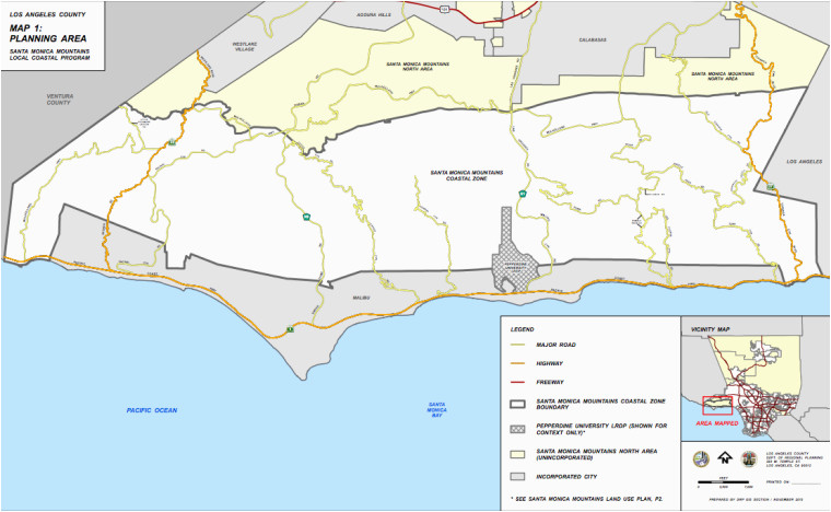 Where is Malibu On the California Map Santa Monica Mountains Plan Finally Wins Approval News