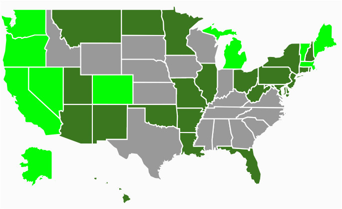 Where to Buy Pot In Colorado Map State Marijuana Laws In 2018 Map