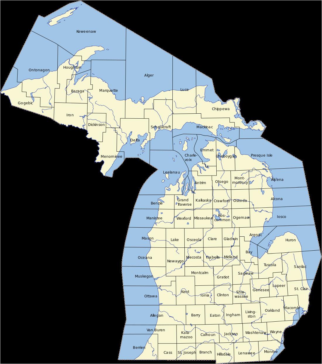 45th Parallel Michigan Map northern Michigan Revolvy
