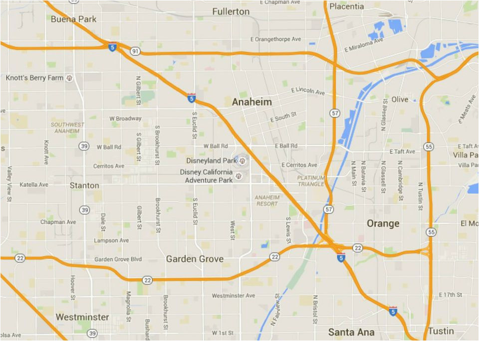 Anaheim California Map Google Maps Of Disneyland Resort In Anaheim California