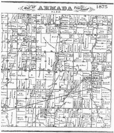 Armada Michigan Map 62 Best Life Past and Present In Armada Michigan Images
