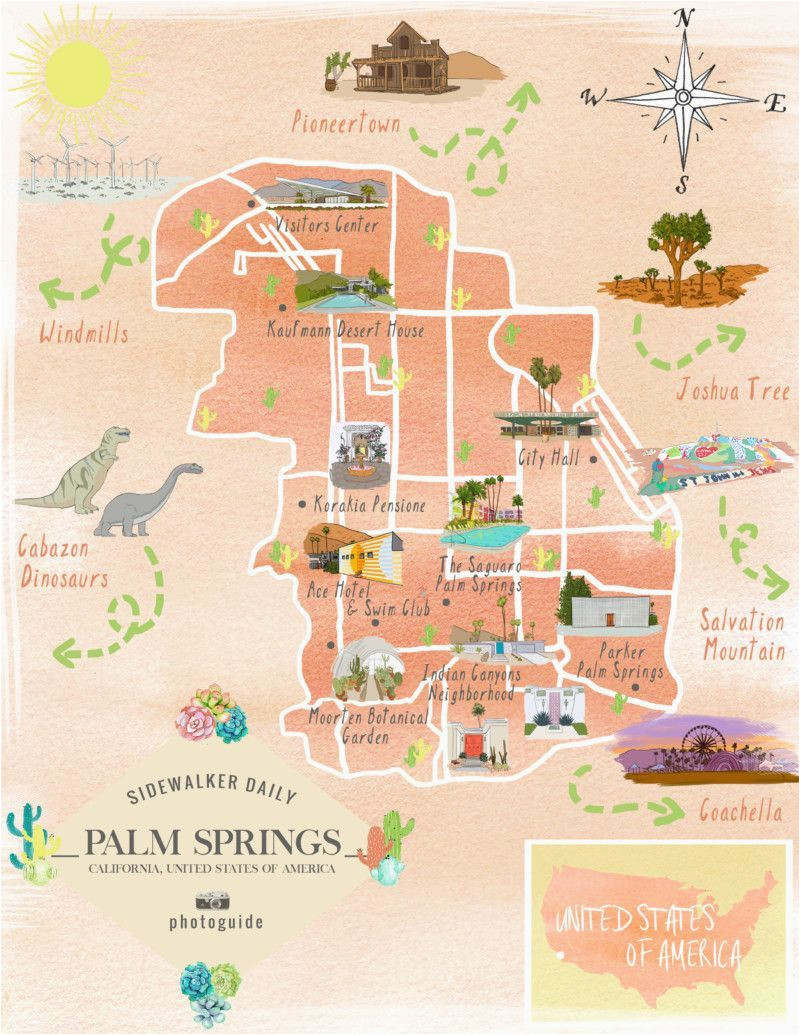 Cabazon California Map Map Of the Best Los Angeles Instagram Spots Palm Springs Palm