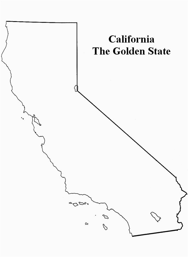 California Map Drawing California Cutout Use Stickers and Doodles to Cover Different areas