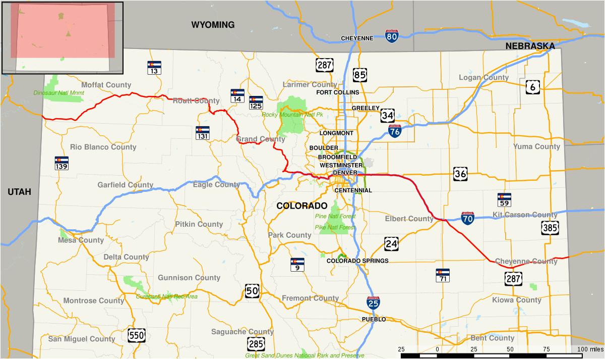 Colorado Mile Marker Map | secretmuseum