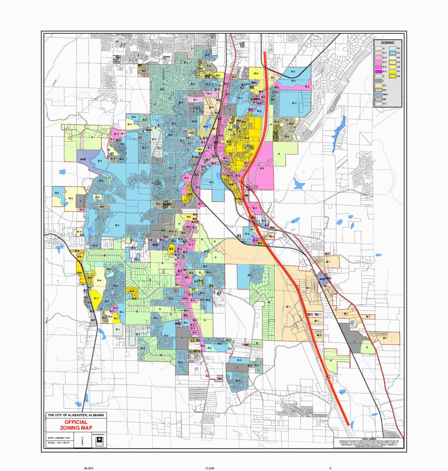 Colorado Springs Zoning Map Zoning Map by City Of Alabaster issuu