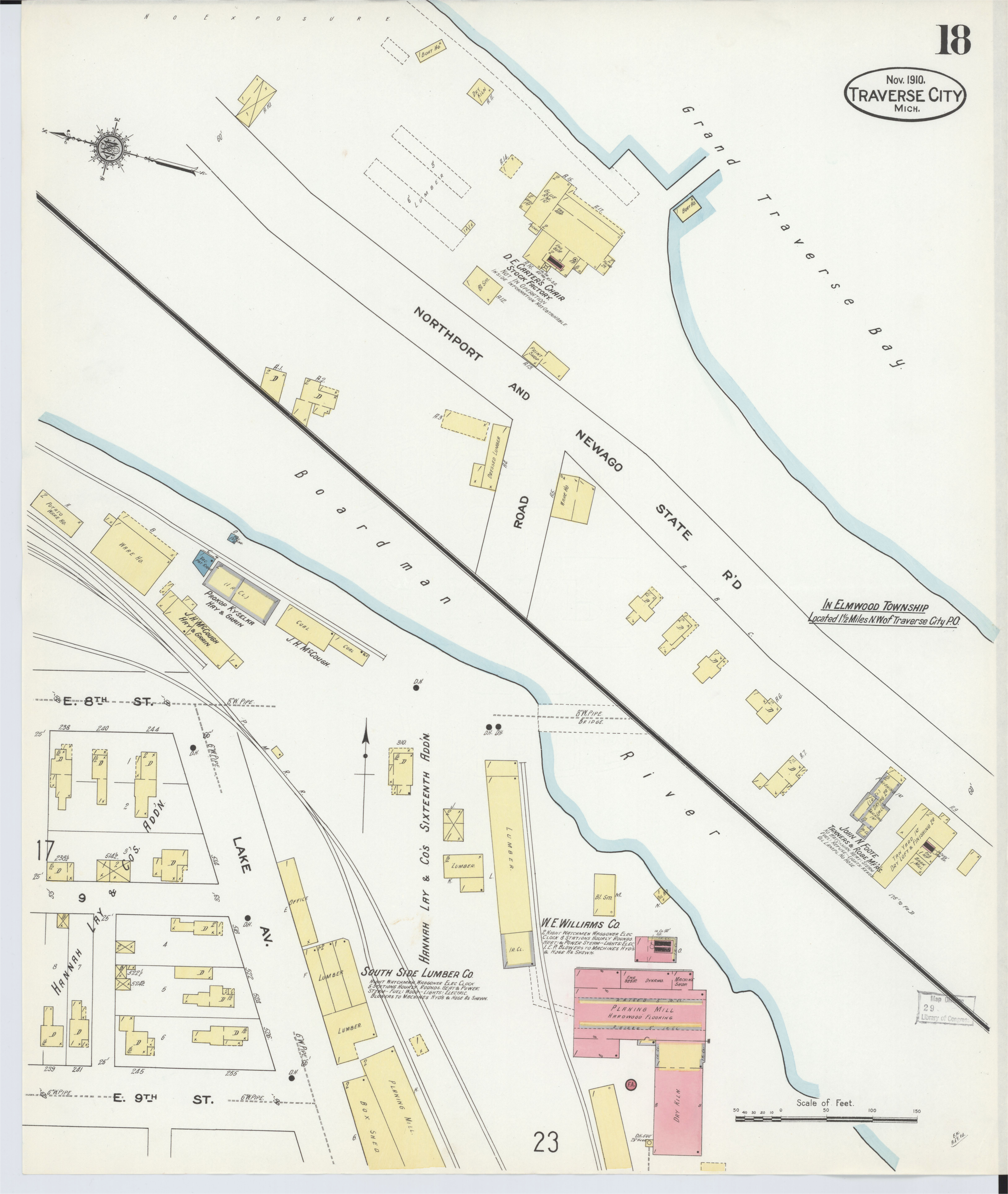 County Map for Michigan File Sanborn Fire Insurance Map From Traverse City Grand Traverse