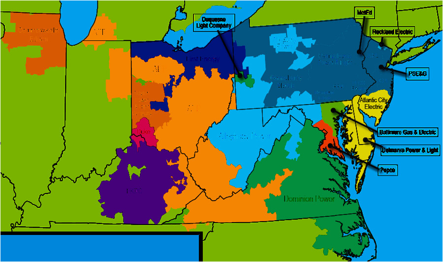 Dominion East Ohio Service area Map Electricity Transmission In Virginia