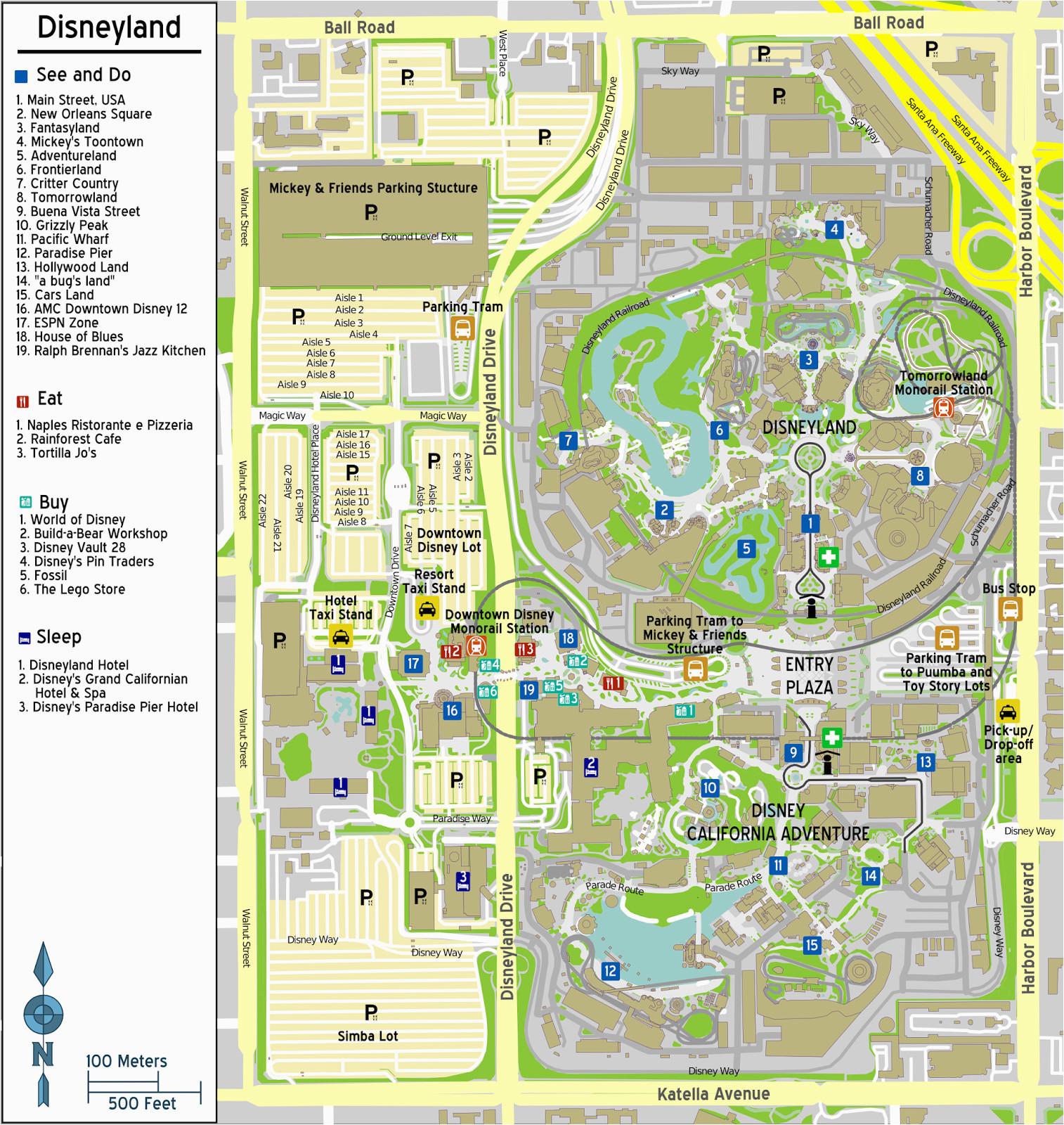 Downtown Disney California Map Downtown Disney California Map Printable Maps Map Of Anaheim