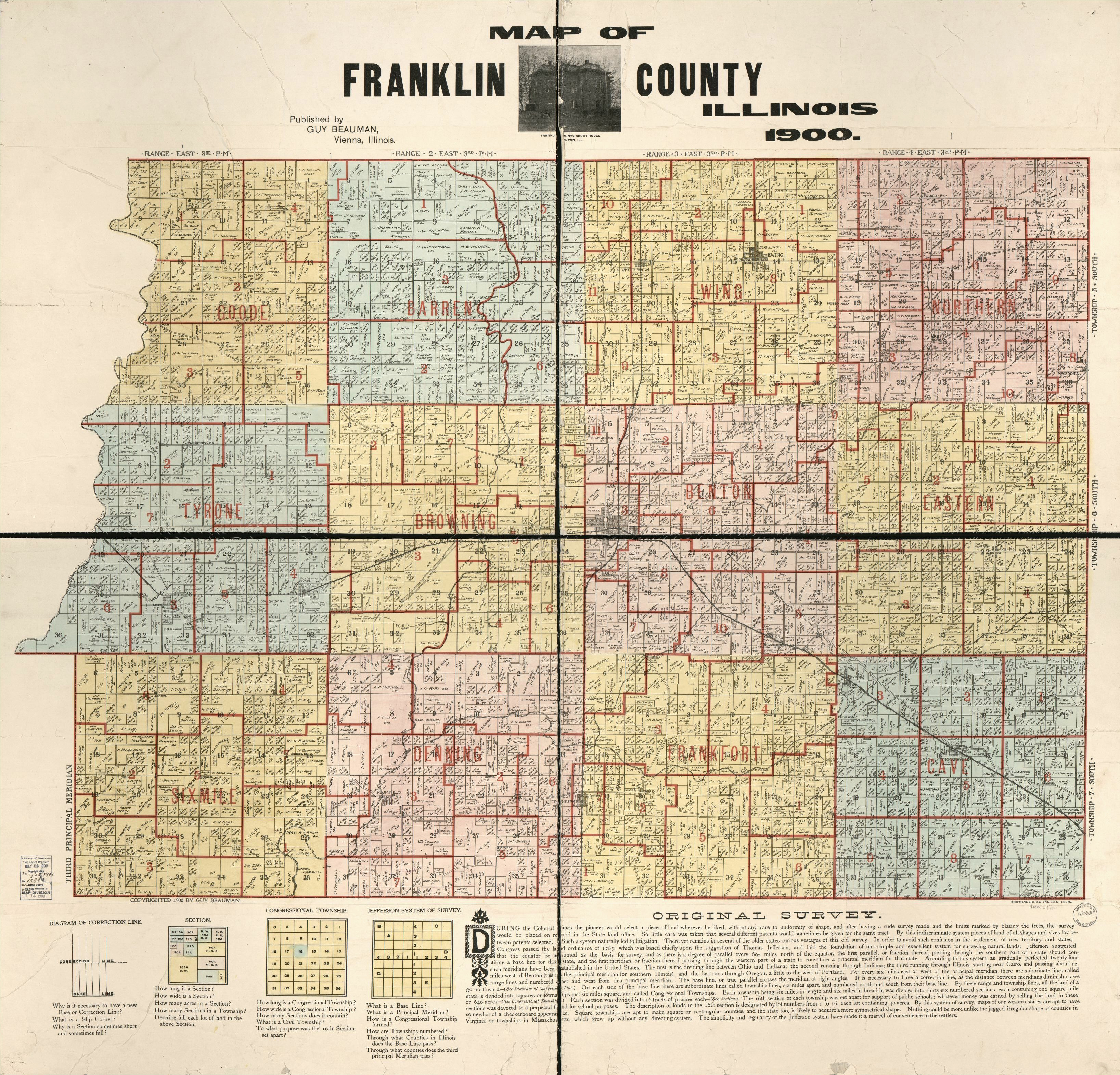 Franklin County Ohio township Map Map Franklin County Franklin County Library Of Congress