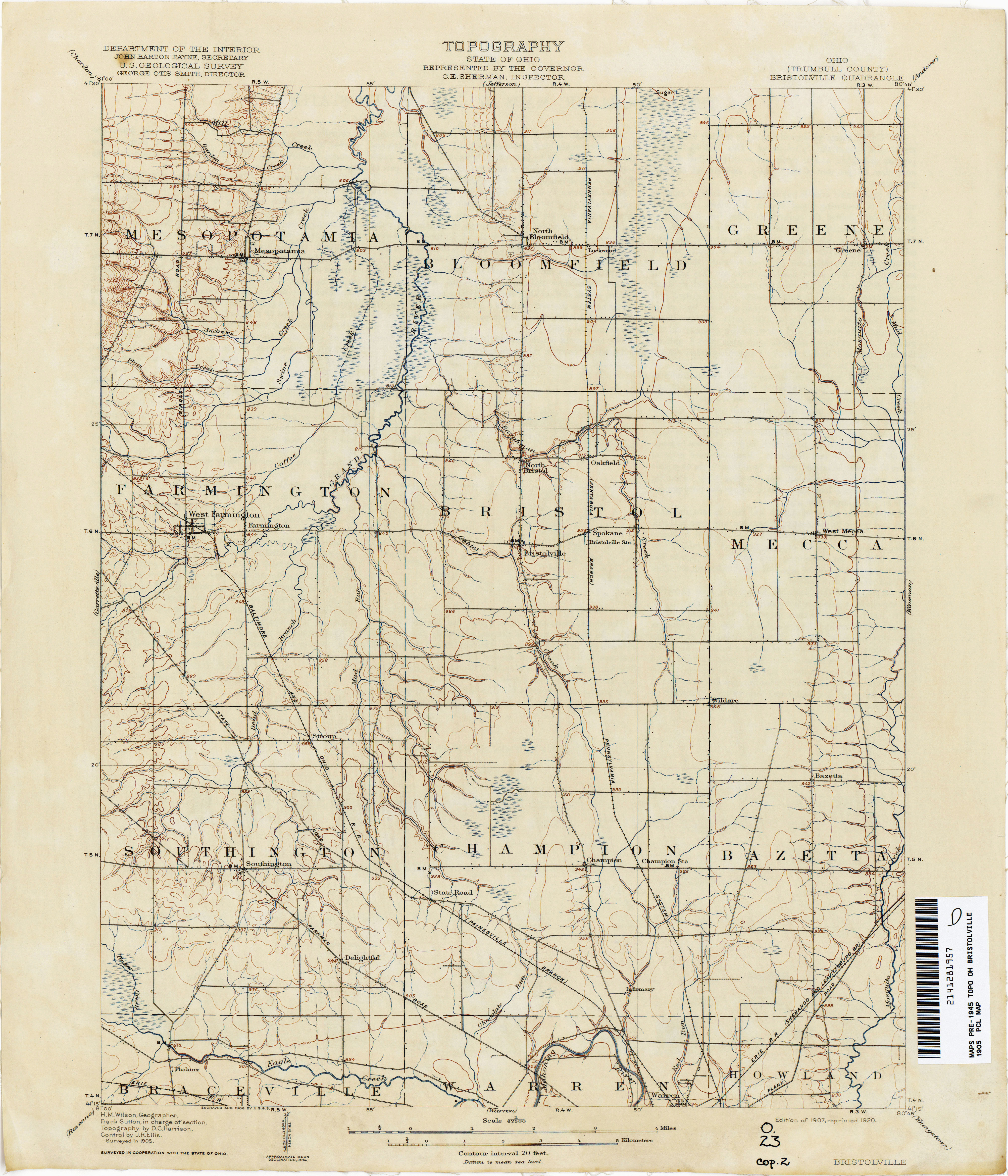 Harrison County Ohio Map Ohio Historical topographic Maps Perry Castaa Eda Map Collection