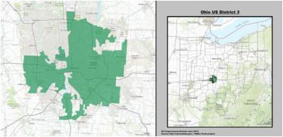 Hiram Ohio Map Ohio S 3rd Congressional District Wikipedia