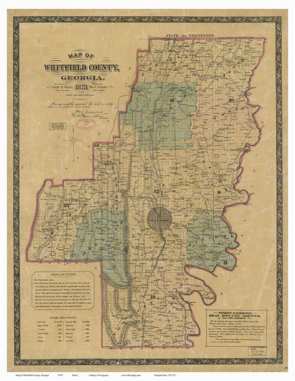 Historical Maps Of Georgia Whitfield County 1879 Georgia Old Maps Of Georgia Pinterest