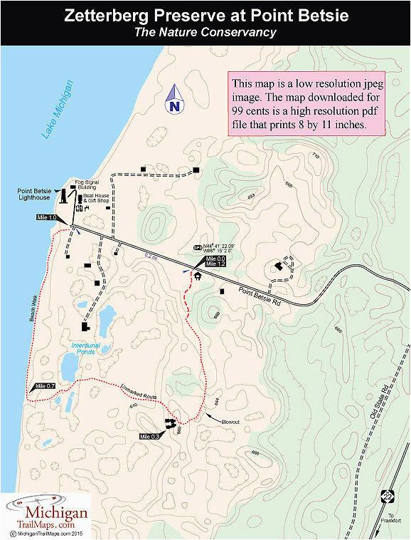 Kent Lake Michigan Map Zetterberg Preserve at Point Betsie