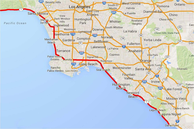 Malibu Beach California Map Driving the Pacific Coast Highway In southern California