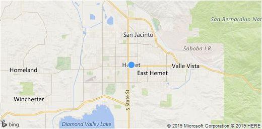 Map Hemet California area Hemet area Map Information