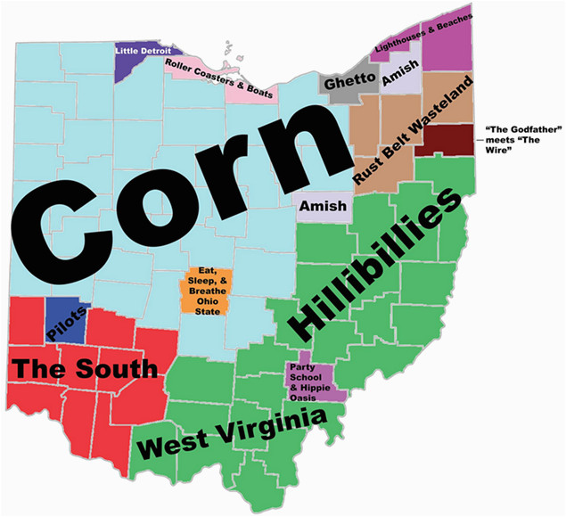 Map Marion Ohio 8 Maps Of Ohio that are Just too Perfect and Hilarious Ohio Day