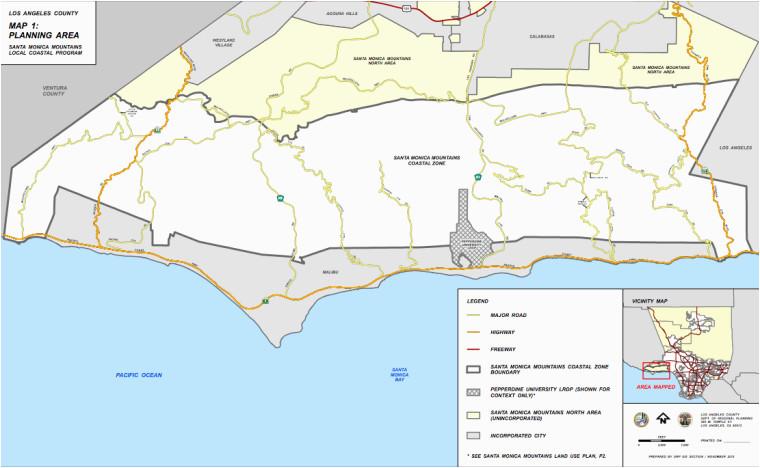 Map Of California Malibu Santa Monica Mountains Plan Finally Wins Approval News