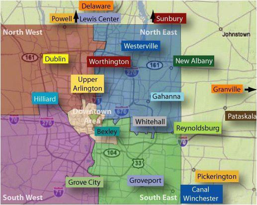 Map Of Green Ohio Columbus Neighborhoods Columbus Oh Pinterest Ohio the