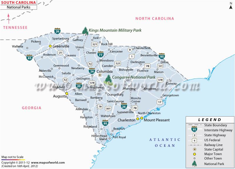 Map Of north Carolina State Parks south Carolina State Parks Map Beautiful north Carolina State Parks