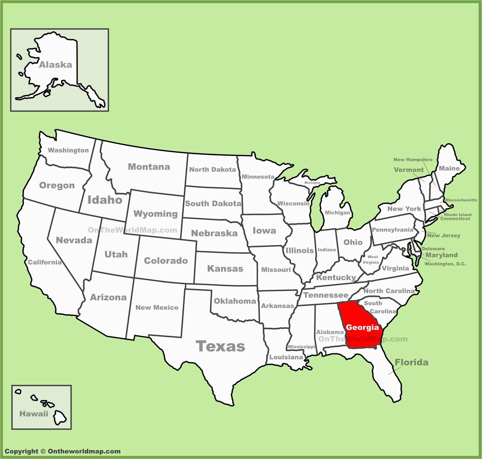 Map Of the State Of Georgia Usa Georgia State Maps Usa Maps Of Georgia Ga