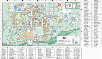 Map Of Willard Ohio Oxford Campus Map Miami University Click to Pdf Download Trees