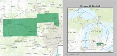 Michigan House District Map Michigan S 8th Congressional District Wikipedia