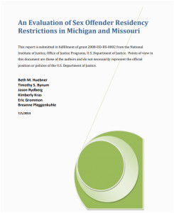 Michigan Sex Offender Registry Map An Evaluation Of Sex Offender Registry Restrictions In Michigan and