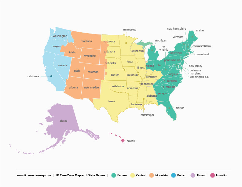 Michigan Time Zone Map Us Time Zone Map