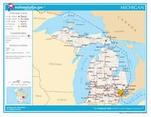 Michigan Zipcode Map Index Of Michigan Related Articles Wikipedia