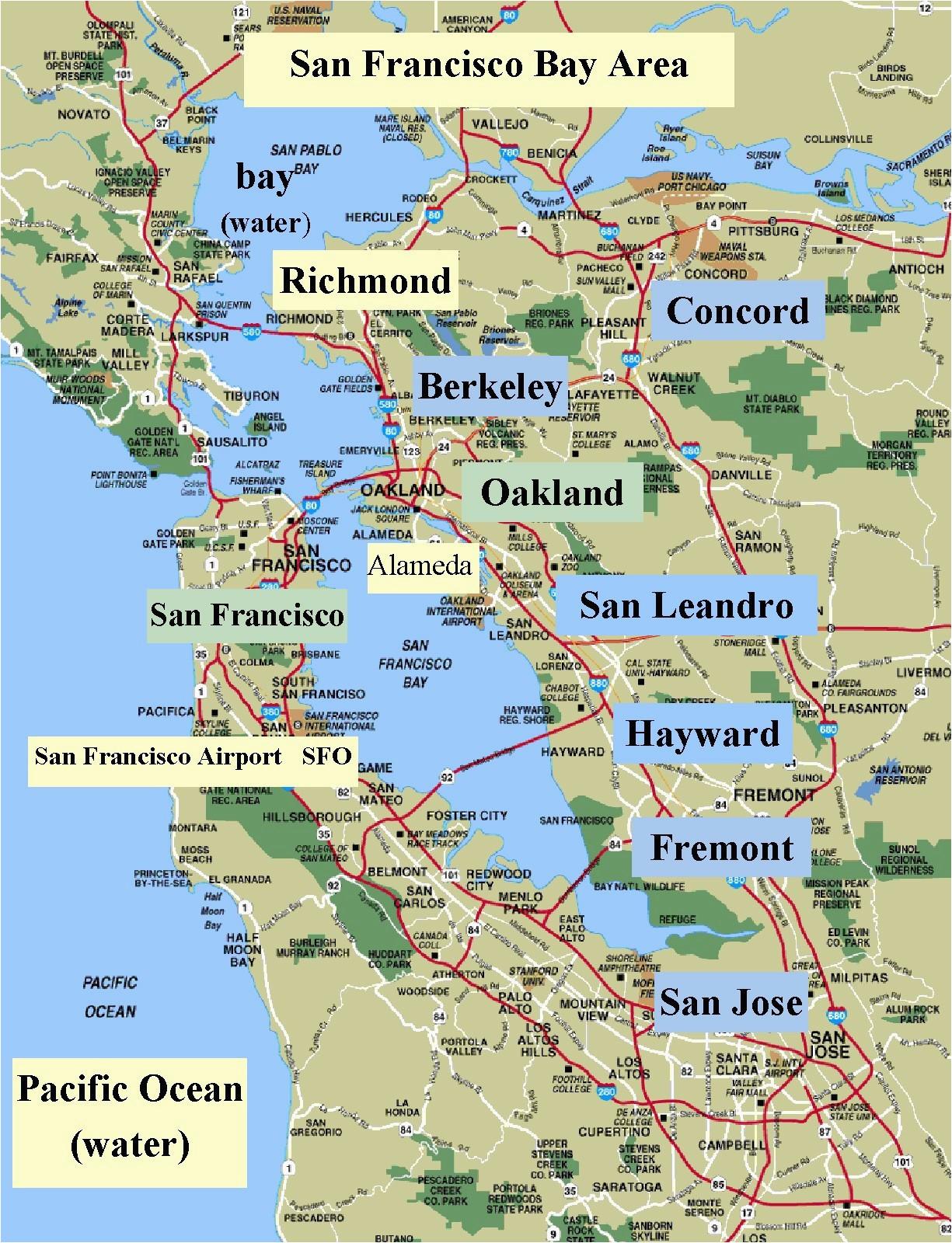 Mill Valley California Map Map San Francisco Bay area California Valid Map California Map