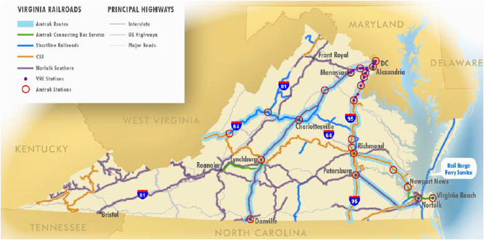 North Carolina Railroad Map Railroads Of Virginia