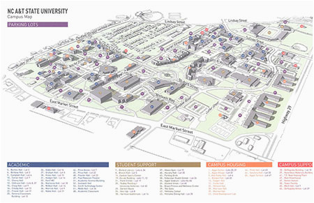 North Carolina State Campus Map Campus Map north Carolina A T State University