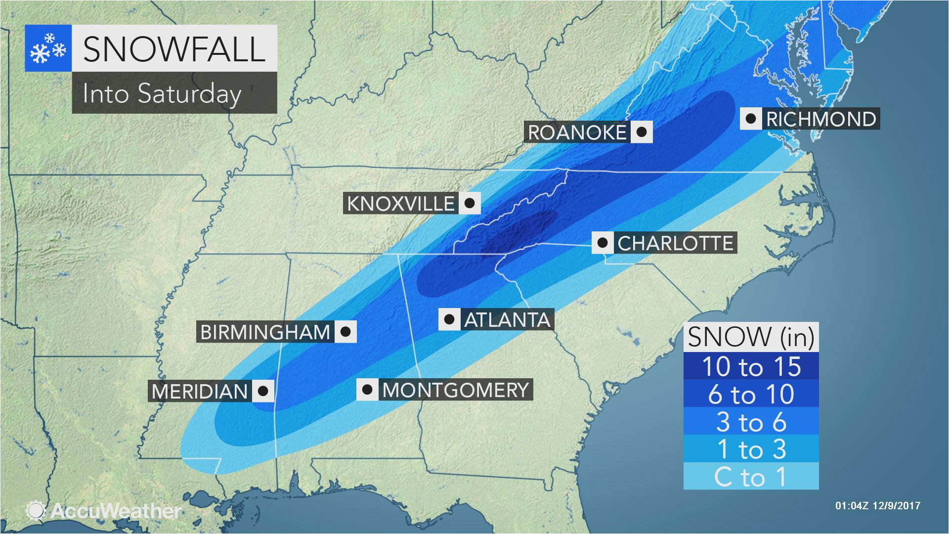 North Carolina Temperature Map Snowstorm Cold Rain and Severe Weather Threaten southeastern Us