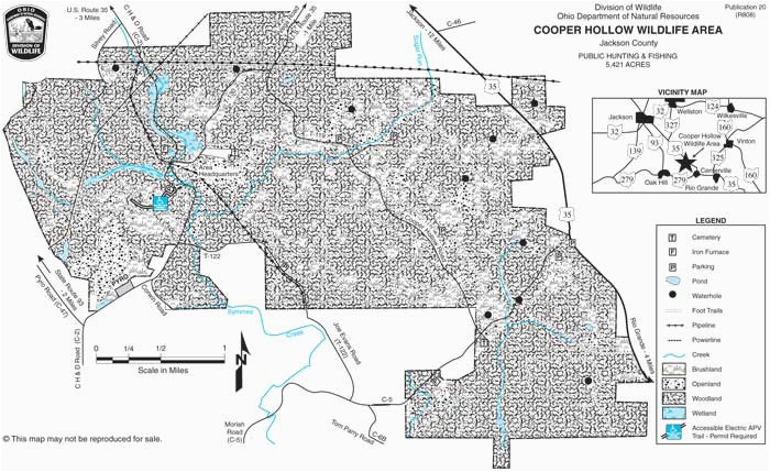 Ohio Fishing Maps Cooper Hollow Wildlife area