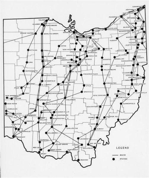 Ohio Prisons Map Pin by Lois Kruckenberg On Ohio History Underground Railroad