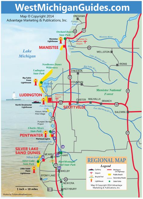 Paradise Michigan Map West Michigan Guides West Michigan Map Lakeshore Region Ludington