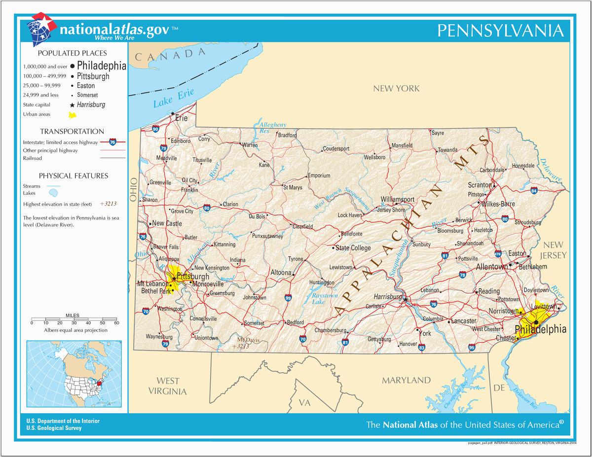 Scranton Ohio Map Liste Der orte In Pennsylvania Wikipedia