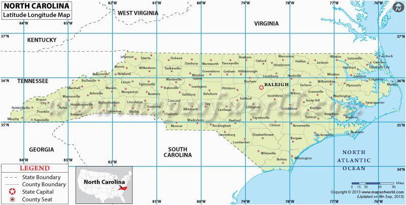 Show A Map Of north Carolina north Carolina Latitude and Longitude Map Projects to Try