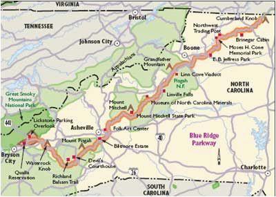Show A Map Of north Carolina north Carolina Scenic Drives Blue Ridge Parkway asheville Here I