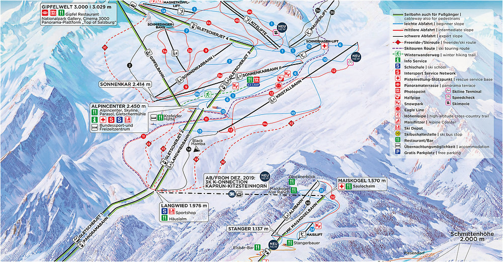 Ski Michigan Map Bergfex Skigebiet Kitzsteinhorn Kaprun Skiurlaub Kitzsteinhorn