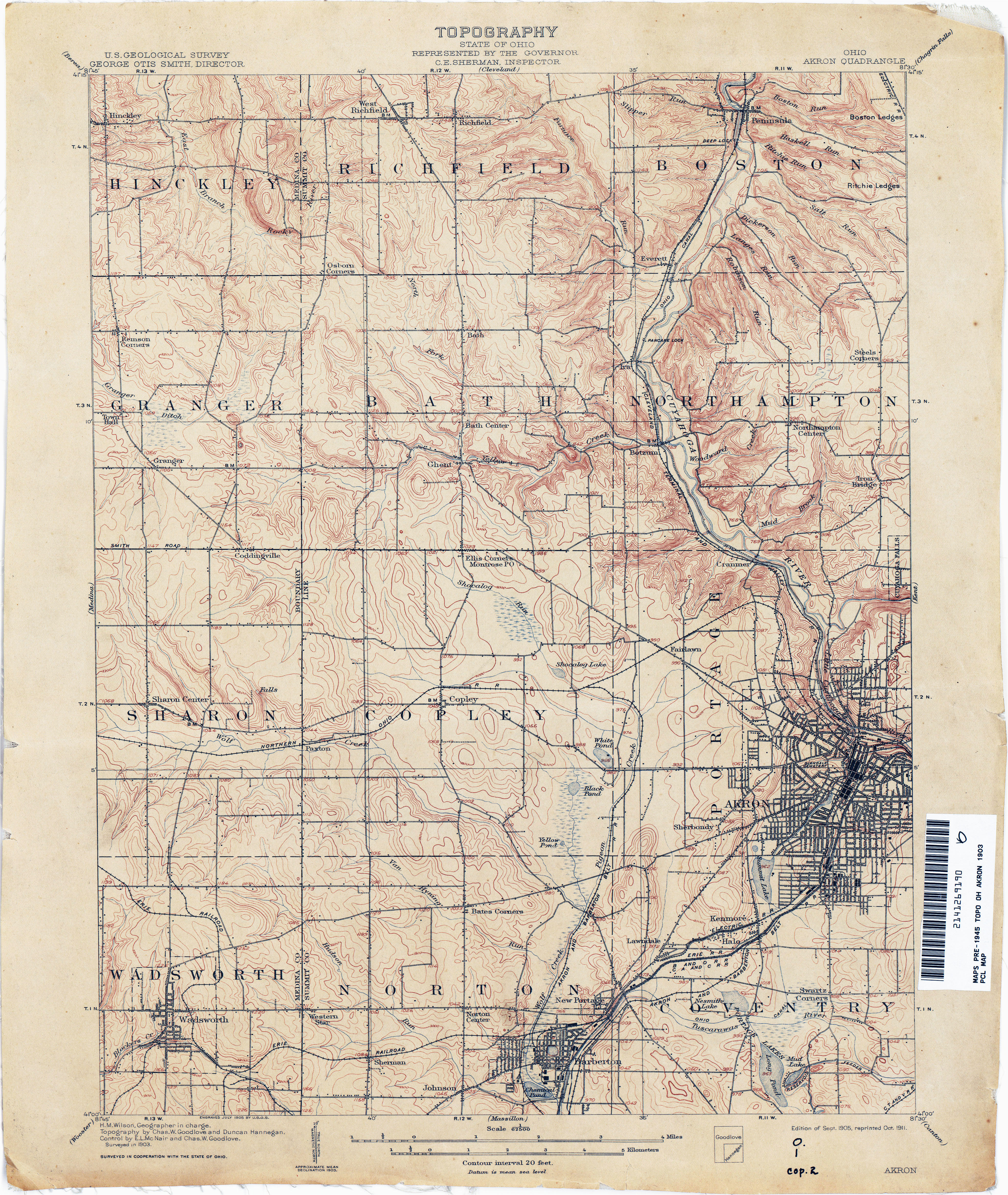 Springfield township Ohio Map Ohio Historical topographic Maps Perry Castaa Eda Map Collection