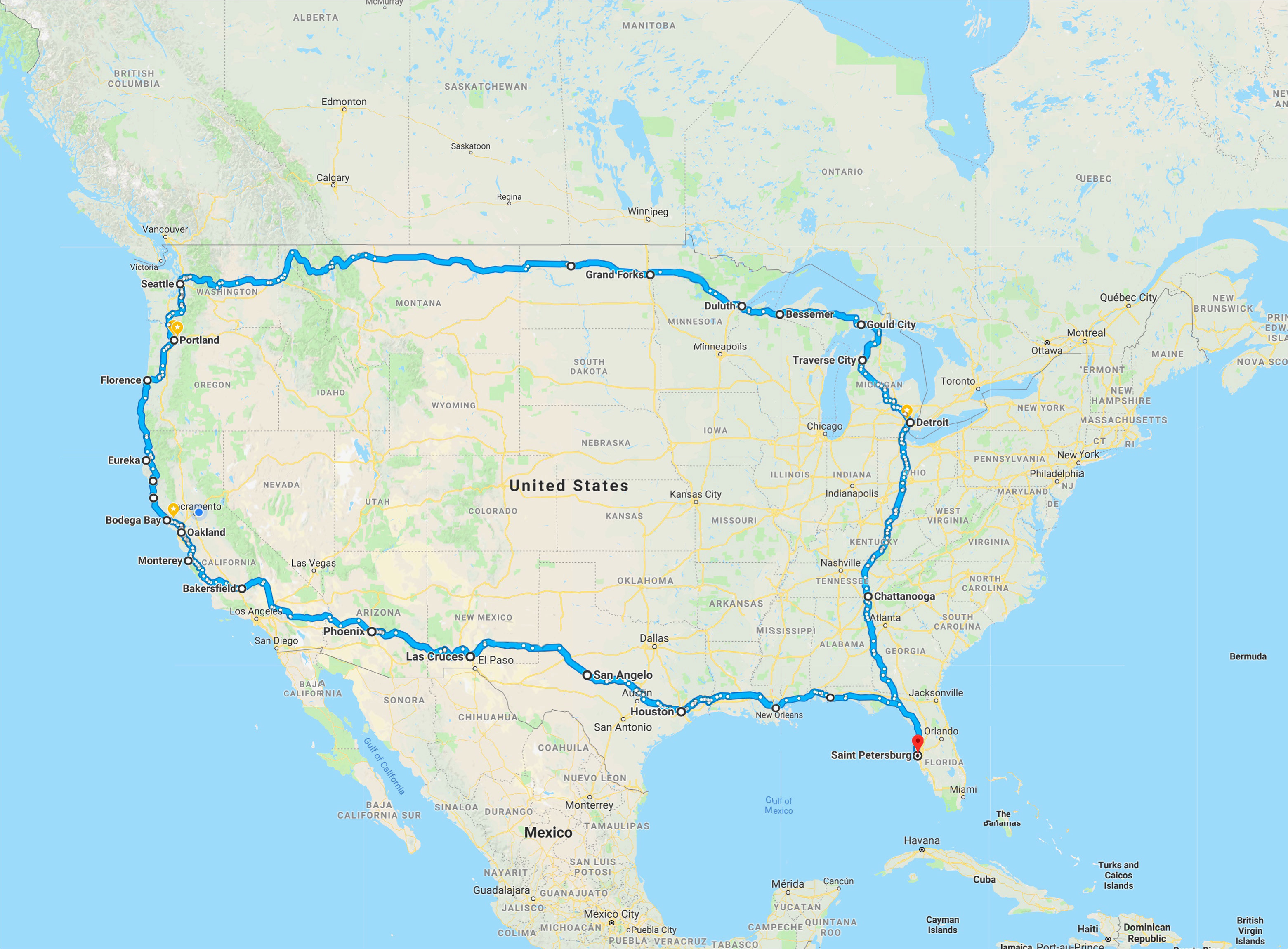Tour Of California Route Map 1919 Franklin tour Of America 24 Hours Of Lemons Best California