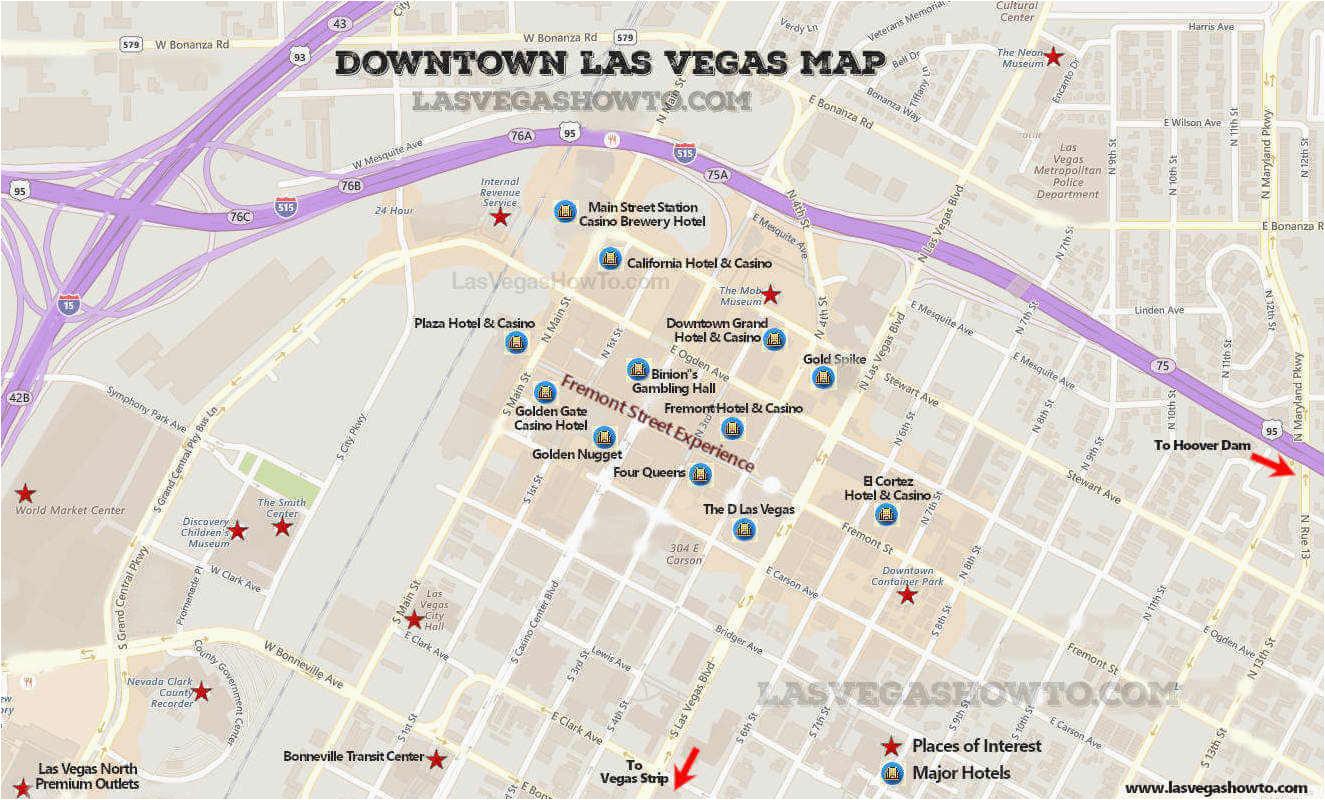 Upper Michigan Casinos Map Downtown Las Vegas Map 2019 Lasvegashowto Com