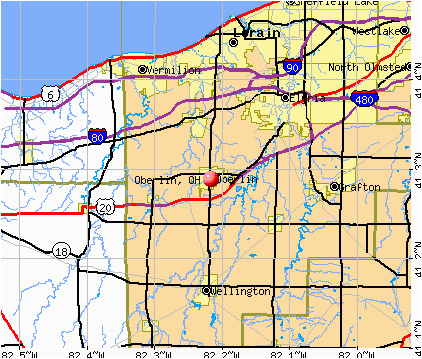 Where is Oberlin Ohio On the Map Oberlin Ohio Oh 44074 Profile Population Maps Real Estate